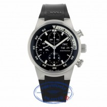 IWC Aquatimer Chronograph 42MM Stainless Steel Black Dial Black Rubber Strap IW371933 7U4RLR - Beverly Hills Watch Company Watch Store