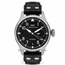 IWC Big Pilot 46MM Black Dial Black Alligator Strap IW500901 EECRE5 - Beverly Hills Watch Company Watch Store