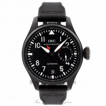 IWC Big Pilot Top Gun 48MM Black Ceramic Titanium Case 7 Day Power Reserve IW501901 Y62MGN - Beverly Hills Watch Company Watch Store