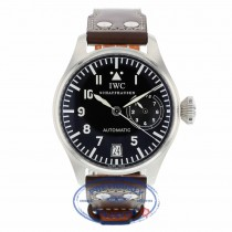 IWC Die Grosse Fliegeruhr Big Pilot 46MM Stainless Steel Black Dial IW500201 CA8V48 - Beverly Hills Watch Company