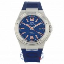 IWC Ingenieur Mission Earth Plastiki Steel Blue Dial IW323603 WC10AL - Beverly Hills Watch Company