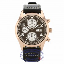 IWC Pilot Antoine de Saint Exupéry Automatic 42mm 18k Rose Gold Bronze Dial IW371711 2Q4MF6 - Beverly Hills Watch