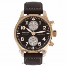 IWC Pilot Chronograph Antoine De Saint Exupery Rose Gold Chocolate Dial Numerals IW387805 BS3KZ3 Beverly Hills Watch Store 01