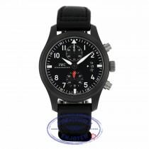 IWC Pilot Top Gun 46mm Chronograph Black Dial Black Fabric IW388007 F5R64R - Beverly Hills Watch Company