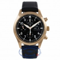 IWC Pilot's Chronograph 42MM Automatic 18k Rose Gold Black Dial Black Fabric Strap IW3717-13 34EXUW - Beverly Hills Watch Company Watch Store