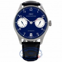 IWC Portuguese Seven Day Reserve 42mm Stainless Steel Laureus Limited Edition IW500112 8QRETW - Beverly Hills Watch Company