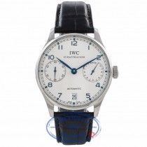IWC Portuguese 7 Day Power Reserve Stainless Steel 42MM IW500107 QPRJ8C- Beverly Hills Watch Company Watch Store
