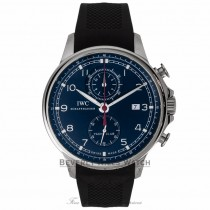 IWC Portuguese Yacht Club Chronograph 45MM Blue Dial IW390213 5NZMZZ - Beverly Hills Watch Company Watch Store