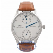 IWC Portuguisse Regulator Stainless Steel Silver Dial IW5444.01 Y1A4ST - Beverly Hills Watch Company Watch Store