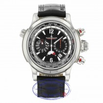 Jaeger LeCoultre Extreme World Stainless Steel Chronograph Black Dial Black Alligator Strap 150.8.22 AZ2Q21 - Beverly Hills Watch Company