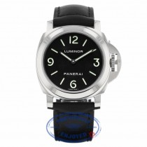 Panerai Luminor 44MM Manual Wind Stainless Steel Black Dial PAM00112 - Beverly Hills Watch