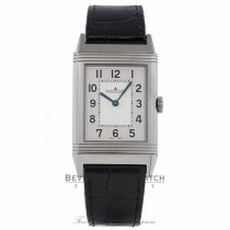Jaeger LeCoultre Grande Reverso Ultra-Thin Stainless Steel Manual Wind Leather Strap Watch 278.85.20 Beverly Hills Watch Company Watch Store