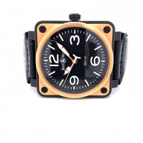 Bell & Ross BR01-92 Rose Gold Black and Carbon KR4C72 - Beverly Hills Watch Company