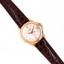 Patek Philippe Calatrava 37MM Rose Gold Silver Dial Automatic 5107R LR5X9V - Beverly Hills Watch Company