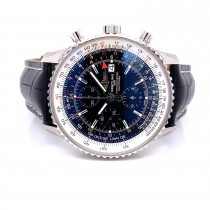 Breitling Navitimer World 46mm Chronograph Stainless Steel Black Dial A243221/B726-760P LW4PE9