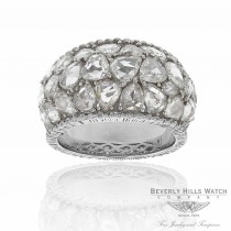 18k White Gold Handcrafted Rose Cut Diamonds DRF05159-40746 12252 - Beverly Hills Watch