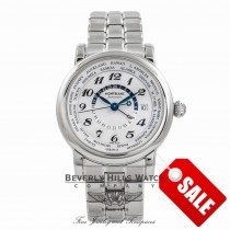 Montblanc Star GMT Automatic Stainless Steel Silver Dial 106465 6BXXS4 - Beverly Hills Watch Company Watch Store