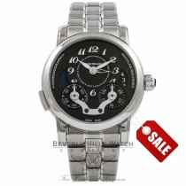 Montblanc Nicolas Rieussec Monopusher Chronograph Stainless Steel Anthracite Dial 102336 17633 - Beverly Hills Watch Store
