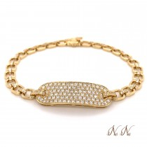 Nai Nai Link ID Diamond Bracelet Yellow Gold F023FN