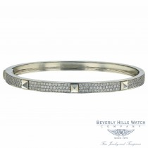 Naira & C  Poosh Bangle Bracelet White Gold and Diamonds D116W4 - Beverly Hills Watch Company