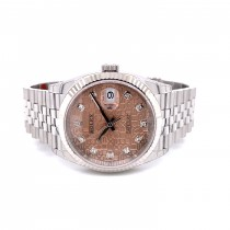 Rolex Datejust 36mm Pink Jubilee Diamond Dial 126234 NYJUFJ - Beverly Hills Watch Company