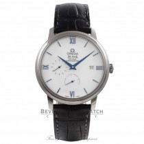 Omega De Ville Prestige 40MM 18k White Gold White Dial Black Leather Strap 424.53.40.21.04.001 VVVZ1D - Beverly Hills Watch Company Watch Store