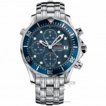 Omega Seamaster 300M Diver Chronograph Blue Dial Blue Bezel Stainless Steel Bracelet Automatic Watch 2225.80.00 Beverly Hills Watch Company Watch Store