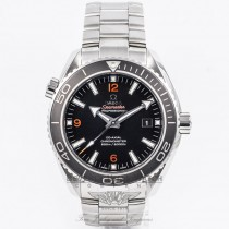 Omega Seamaster Planet Ocean 45MM Stainless Steel Bracelet Black Dial Orange Markers Black Bezel Automatic Dive Watch 232.30.46.21.01.003 Beverly Hills Watch Company Watch Store
