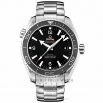 Omega Seamaster Planet Ocean 45MM Stainless Steel Bracelet Black Dial Silver Markers Black Bezel Automatic Dive Watch 232.30.46.21.01.001 Beverly Hills Watch Company Watch Store