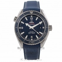 Omega Seamaster Planet Ocean 45MM Titanium Blue Dial Rubber Strap 232.92.46.21.03.001 KLZLV2 - Beverly Hills Watch Company Watch Store