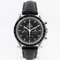 Omega Speedmaster Professional Moon Watch Exhibition Back Manual Wind Sapphire Crystal Leather Strap Watch 3873-50-31 Beverly Hills Watch Company Watch Store