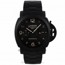 Panerai Contemporary Luminor 1950 Tuttonero 44MM Black Ceramic Black Dial Black Bracelet PAM00438 09PC5V - Beverly Hills Watch Company Watch Store