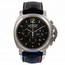 Panerai Daylight Chronograph Orange Markings Black Dial PAM00356 KNHKNU - Beverly Hills Watch Company Watch Store