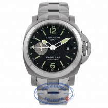 Panerai Luminor GMT 44MM Stainless Steel Titanium PAM00161 RHV3A9 - Beverly Hills Watch Company Watch Store
