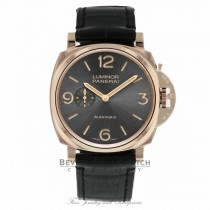 Panerai Luminor Due Anthracite Dial Automatic 45mm 18k Rose Gold PAM00675 FUL4QW - Beverly Hills Watch