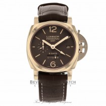 Panerai Luminor 1950 Brown Dial 18k Rose Gold PAM00576 MX80N7 - Beverly Hills Watch