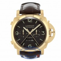 Panerai Luminor 1950 Rattrapante 8 Days Oro Rosa 47mm PAM00319 8JW4N3 - Beverly Hills Watch Company