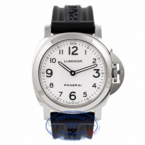 Panerai Luminor Base 44MM Manual Stainless Steel White Dial PAM00114 URFXG1 - Beverly Hills Watch Company Watch Store