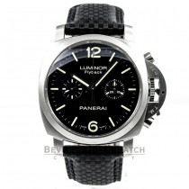 Panerai PAM00361 Luminor Flyback Stainless Steel Carbon Fiber Strap Watch -PAM361- Beverly Hills Watch Company Watches