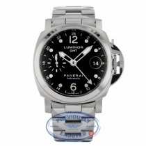 Panerai Luminor GMT Automatic 40mm Stainless Steel Black Dial PAM00160 MV81A7 - Beverly Hills Watch Company