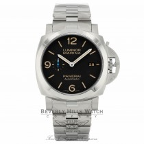 Panerai Luminor Marina 1950 Stainless Steel 44mm Automatic Black Dial PAM00723 127NM7 - Beverly Hills Watch