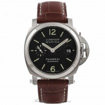 Panerai Luminor Marina Stainless Steel 40MM Brown Alligator Strap PAM00048