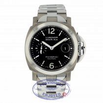 Panerai Luminor Marina 44MM Titanium Stainless Steel Black Dial PAM00220 ZLCJFV - Beverly Hills Watch