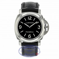 Panerai Luminor 44MM Manual Wind Stainless Steel Black Dial PAM00112 534QDY - Beverly Hills Watch