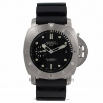 Panerai Luminor Submersible 1950 Limited Edition Black Dial Black Rubber Strap PAM00364 QTTPQ0 - Beverly Hills Watch Store