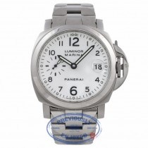 Panerai Luminor Marina 40MM Automatic White Dial Bracelet PAM00051 Z1WD5D - Beverly Hills Watch Company Watch Store