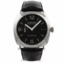 Panerai Radiomir 3 Day Power Reserve Automatic Black Dial Black Leather Strap PAM00388 F26AAN - Beverly Hills Watch Company Watch Store