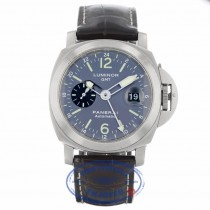 Panerai PAM 89 GMT Luminor Anthrecite Dial Titanium 44mm PAM00089 ZLURXZ - Beverly Hills Watch Company