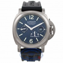 Panerai Luminor Titanium Power Reserve Blue Dial PAM00093 21VDCS - Beverly Hills Watch Company Watch Store