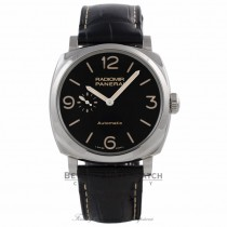 Paneari Radiomir 1940 45MM Stainless Steel Black Dial Black Alligator Strap PAM00572 243M3Y